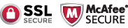 Con seguridad mediante VeriSign y McAfee